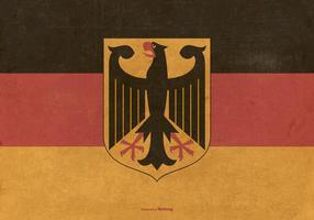 Vinatge Bandera de Alemania