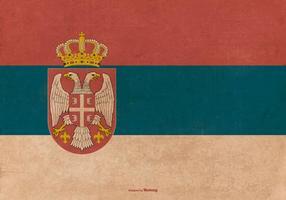 Vieja bandera del estado de Serbia del Grunge