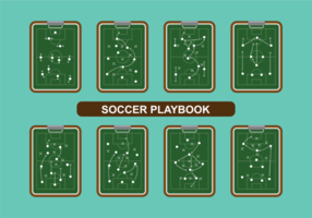 Voetbal playbook vector