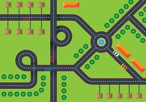 Road Top View vector