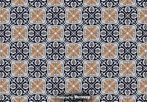 Plancher de carrelage - motif de décoration ornementale