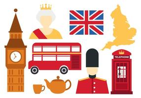 England Icons Vector