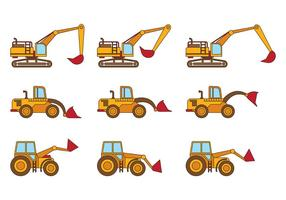Set van Skid Steer Vector