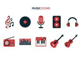 Ícones de vetor de música grátis