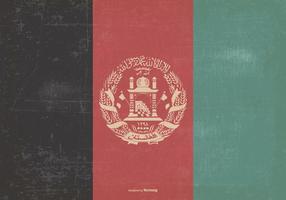 Bandera del vintage de Afganistán
