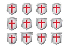 Templar escudo formas vectores