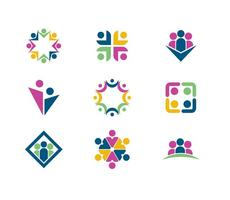 Working Together / Teamwork Logo Vectors