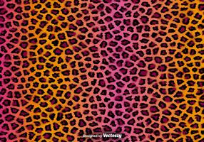 Fond de texture de vecteur de peau de guépard