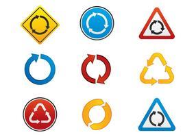 Vecteurs de symbole du rond-point gratuit