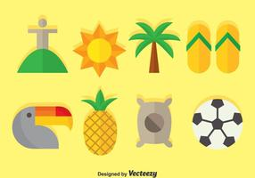 Samba plana iconos vectoriales