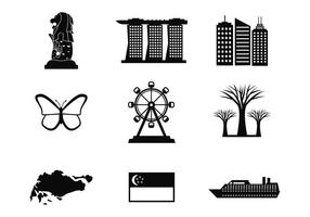 Singapore Icons Vector