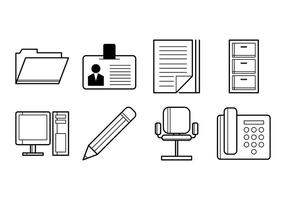 Gratis Office Stuff Ikon Vector