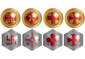 Gratis Templar Ikoner Vector