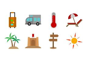Gratis Beach Theme Icon Vector