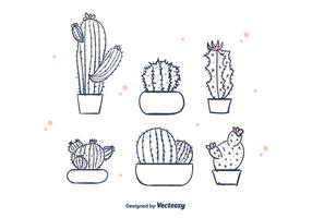 Hand Drawn Cactus Vector
