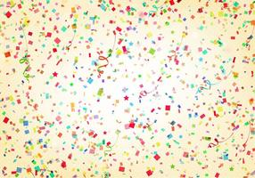 Vector Aniversario Background With Streamer And Confetti