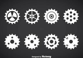 Conjunto de vectores de reloj de engranajes