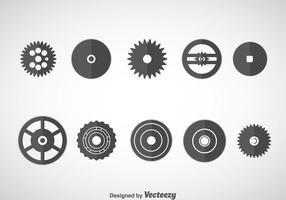 Reloj Rueda Engranajes Vector