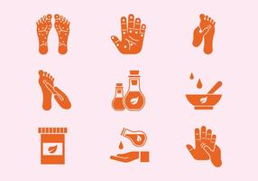 Reflexology Icons vector