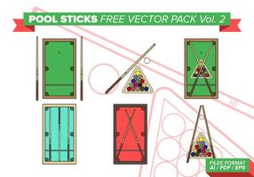 Pool Sticks Free Vector Pack Vol. 2
