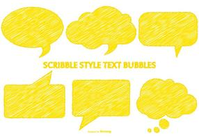 Scribble Estilo Amarillo Speech Bubbles