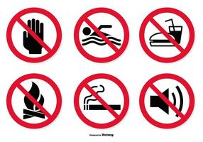 Prohibited Icon Set vector
