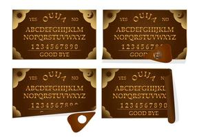 Ouija Leather Board vector