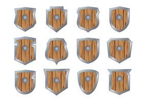 Holz Blason Vektor