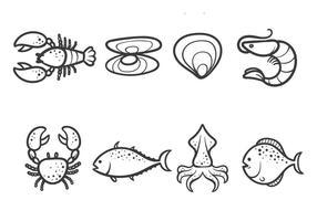 Kostenlose Meeresfrüchte-Vektoren