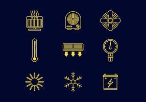 Libre De Líneas De Calefacción Iconos Vector