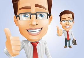 Cheerful Businessman Character