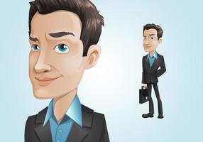 Personagem de empresário elegante
