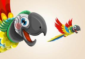 Ilustração do Papagaio Voador