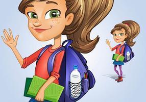 Personaje de niña estudiante