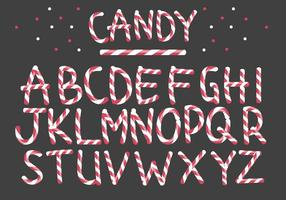 Vecteurs à lettre de bonbons à la menthe poivrée