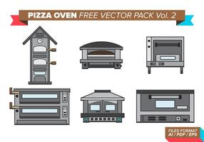 Four à pizza pack vectoriel gratuit vol. 2