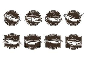Free Mackerel Badge Vectors