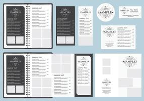B&W Menu Templates vector