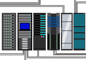 Gratis Server Rack Vector