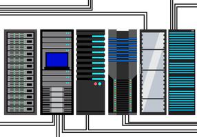 Vetor de rack de servidor gratuito