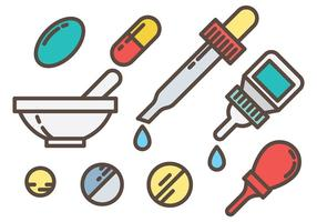 Ícones de vetor de medicina gratuita