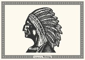 Free Hand Drawn Native American vector