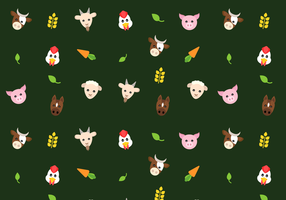 Free Farm Animals Pattern Vector