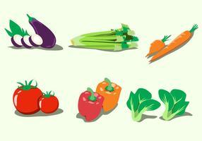 Vetor de vegetais saudáveis