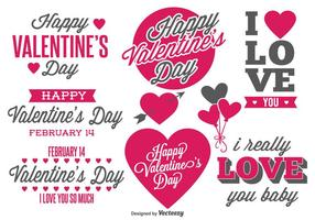 Valentine's Day Labels vector
