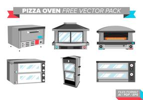 Pack de vecteur gratuit de four à pizza