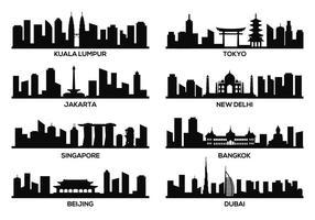 Libre Asia Famosos Landmark Vector