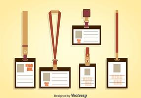 Lanyards Vector Sets