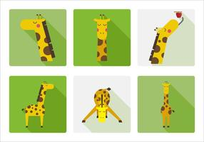 Girafa de vetores