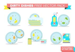 Vuile Schotels Gratis Vector Pack